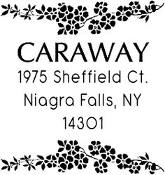 Adeptly made by our teams of hardworking personnel and sent out to you as swiftly as are able, this Caraway Flower Vine Address Stamp will lend an eye-catching artwork to all of your outgoing mail.