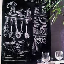 cocina pizarra pared - Buscar con Google
