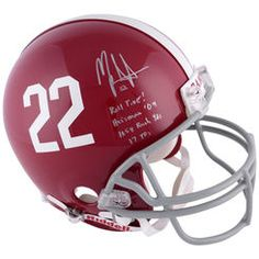 Mark Ingram Alabama Crimson Tide Autographed Riddell Pro-Line Authentic Helmet With Multiple Inscriptions-#2-21 of a Limited Edition of 22