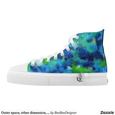 Shop Outer space, other dimension, same stars. High-Top sneakers created by BeeBeeDeigner. Tech Accessories, Fashion Accessories, Fused Glass Jewelry, Outer Space, On Shoes, Converse Chuck Taylor, Sneakers Fashion, Fashion Forward, High Tops