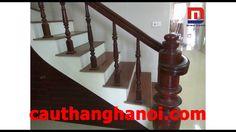 Cầu thang gỗ Lim Nam Phi con tiện đơn thi công và lắp đặt tại Hà Nội