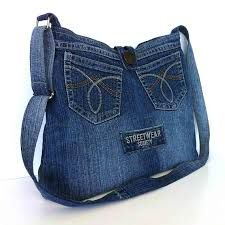 Image result for recycled denim tote bag
