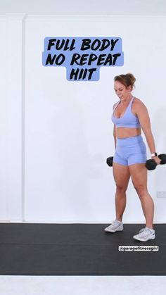 Full Body Hiit Workout, Gym Workout Videos, Gym Workout For Beginners, Gym Workout Tips, Dumbbell Workout, Fit Board Workouts, Kettlebell, Work Out Routines Gym, Yoga