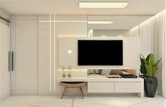 Home Modern, Modern Interior, Home Interior Design, Interior Decorating, Wall Unit Designs, Living Room Tv Unit Designs, Tv Cabinet Design, Framed Tv, Suites