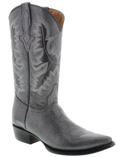 Men's gray leather crocodile alligator belly cut cowboy boots western rodeo  #ELPRESIDENTEBOOTCOMPANY #CowboyWestern