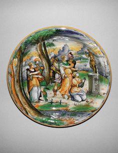 Domenego da Venezia, workshop, Venice. Deep dish circa 1560 — 1570. Fitzwilliam Museum