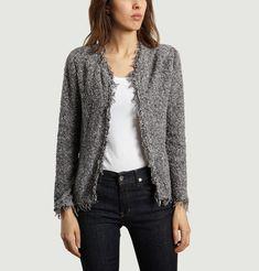 Mottled grey tweed c