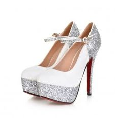 Glitter Pumps (White)