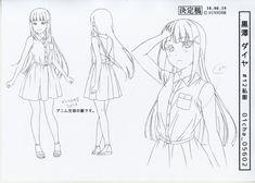 ラブライブ!サンシャイン!! 設定 Character Model Sheet, Character Modeling, Character Design, Manga Drawing Tutorials, Manga Tutorial, Dia Kurosawa, Poses, Pose Reference, Daydream