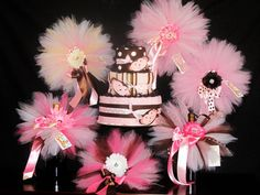 Diaper Cake for Girls Pink and Brown  Baby by Baby2BNashville