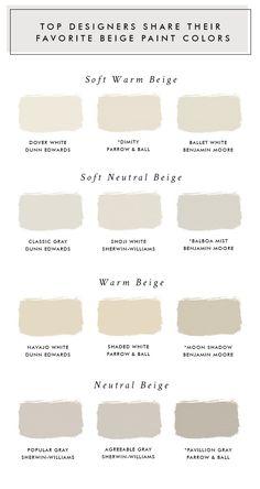 Home Interior Grey Top Designers Share Their Favorite Beige Paint Colors - Laurel Harrison.Home Interior Grey Top Designers Share Their Favorite Beige Paint Colors - Laurel Harrison Beige Paint Colors, Paint Color Schemes, Interior Paint Colors, Grey Beige Paint, Natural Paint Colors, Light Paint Colors, Beige Color Palette, Sand Color Paint, Colourtrend Paint