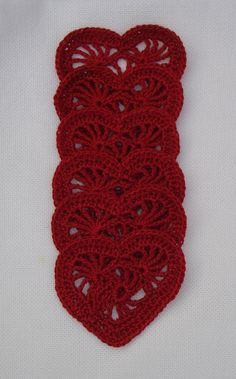 red crochet heart appliques via Etsy.