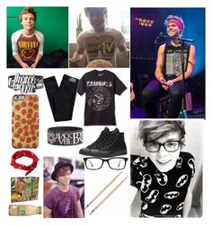 """""""Ashton"""" by izzi1994 ❤ liked on Polyvore featuring Dr. Denim, Converse, Ray-Ban, ASOS, Marvel, men's fashion, menswear and Izzisanons"""