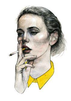 Girls by Daria Makeeva, via Behance