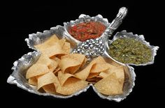 Grape Leaf Chip & Multidip Tray from Arthur Court in Gainesvile, FL from Kitchen & Spice