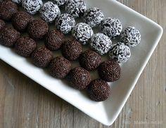 De helt nemme romkugler med købte chokolademuffins+hindbærroulade uden creme