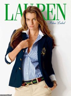[ RALPH LAUREN AD ] Such a classic look and style. This is one of the signature things Ralph Lauren is known for. Image Fashion, Look Fashion, Womens Fashion, Preppy Fashion, Timeless Fashion, Preppy Girl Outfits, Casual Outfits, Preppy Look, Preppy Style