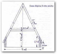 Plano de cabaña alpina |