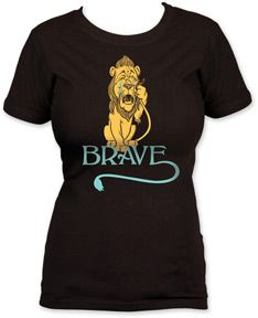 Official The Wonderful Wizard Of Oz The Wonderful Wizard Of Oz Lion Girls T-Shirt