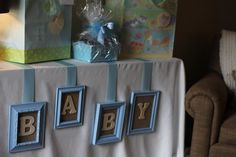 """Photo 16 of 21: Shabby Chic Boy / Baby Shower/Sip & See """"Welcome Baby Brayden""""   Catch My Party"""