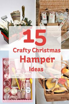 Lots of ideas for crafty christmas hampers! - Hampers - Ideas of Hampers Christmas Hamper Ideas Homemade, Diy Christmas Hampers, Xmas Hampers, Gift Hampers, Homemade Gifts, Diy Gifts, Gift Baskets, Xmas Gifts, Christmas Presents