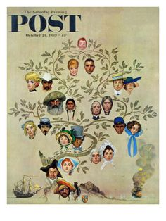"""Family Tree"" Saturday Evening Post Cover, October 24,1959    Who are you in this picture?"