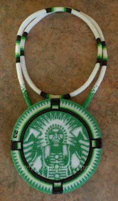 A new medallion by CC's Beadwork #beadwork #beading #indigenous