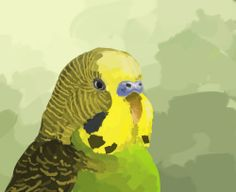 My 20,000th pin!! Celebration time with budgie!! Eat some millet and have a good time, peeps!  http://birdghost.tumblr.com/post/77138142468/hi-new-followers-i-hope-youre-ready-for