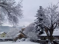 Aragüés bajo la nieve