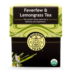 Buddha Teas Feverfew and Lemongrass Tea, 18 Count (Pack of 6) => New and awesome product awaits you, Read it now  : Fresh Groceries