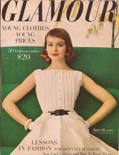 Glamour Magazine Cover; June 1956  -  This dress is so classic!