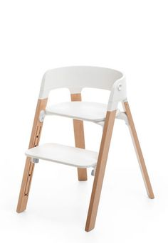 A high quality ergonomic seating system combines a bouncer with a highchair for great flexibility. A stylish seating solution for your baby, toddler & child.