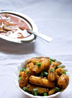 baby corn manchurian: indo chinese baby corn manchurian recipe
