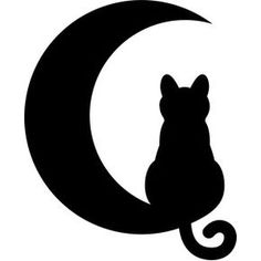 Silhouette Design Store: Cat Moon - cat moon cat moon cat moon Welcome to our website, We hope you are satisfied with the content we of - Silhouette Design, Silhouette Chat, Black Cat Silhouette, Silhouette Images, Halloween Pictures, Halloween Crafts, Cat Moon, Moon Moon, Cat Tattoo Designs