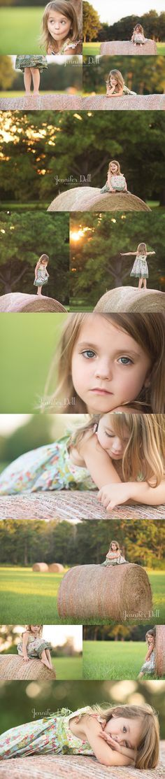 Beautiful outdoor photos of a little girl | Lovely setting, dress and pose ideas