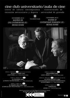 """Cartel del ciclo """"Maestros del Cine Contemporáneo (IV): Michael Haneke""""."""