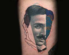 Une sélection des impressionnants tatouages de l'artiste Dzikson Wildstyle, qui imagine ses créations comme du sampling visuel, mélangeant les techniques