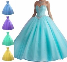 2015 Beaded Quinceanera Dress Formal Prom Party Wedding Dresses Ball Gown Custom | Clothing, Shoes & Accessories, Women's Clothing, Dresses | eBay!