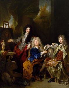 ab. 1686 Nicolas de Largillière - The Artist in his Studio