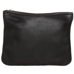 American Apparel CARRY ALL Clutch ($24) ❤ liked on Polyvore featuring bags, handbags, clutches, black, american apparel, leather handbags, genuine leather purse, leather clutches and zip purse