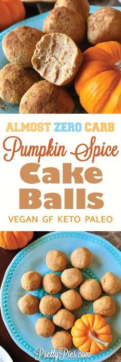 Healthy Pumpkin Spice Cake Balls!   #justeatrealfood #prettypies