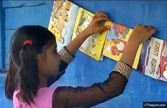 Wow, 9-year-old Muskaan Ahirwar Runs A Library For Underprivileged Children! #library #inspiring #poor #children #bal #pustakalya #reading #books #readers #slums