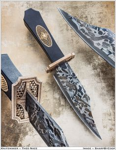 Nuts, bolts, and gears canister damascus coffin handle bowie - Album on Imgur