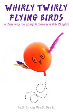 Whirly Twirly Flying Birds Learn what makes flying birds fly with this fun balloon activity for kids. It's an easy to do activity perfect for STEM / STEAM learning. Steam Activities, Science Activities, Science Experiments, Activities For Kids, Stem Science, Preschool Science, Science For Kids, Science Week, Preschool Prep