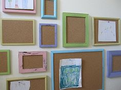 Corkboard frames for displaying art