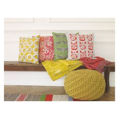 With a cheery yellow colour and a graphic, hand-drawn design, the Evelyn patterned cushion adds instant sunshine to a room. Buy now at Habitat UK. Yellow Cushions, Floral Cushions, Mid Century Modern Colors, Yellow Pattern, Soft Furnishings, Mid-century Modern, Pattern Design, Throw Pillows, Scandinavian