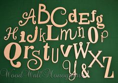 Wooden Wall Letters Wooden Alphabet Letters by WoodWallMonograms