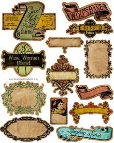 Vintage Halloween Postcards More labels for Halloween ingredients. Halloween Potions, Halloween Labels, Fete Halloween, Holidays Halloween, Vintage Halloween, Halloween Crafts, Halloween Decorations, Halloween Bottles, Halloween Printable