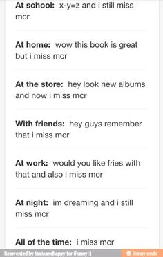 Im now pinning something, and i miss MCR<<< I am adding on to this comment and I miss mcr