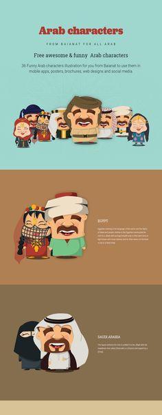 36 Free Arab characters illustrations. on Behance